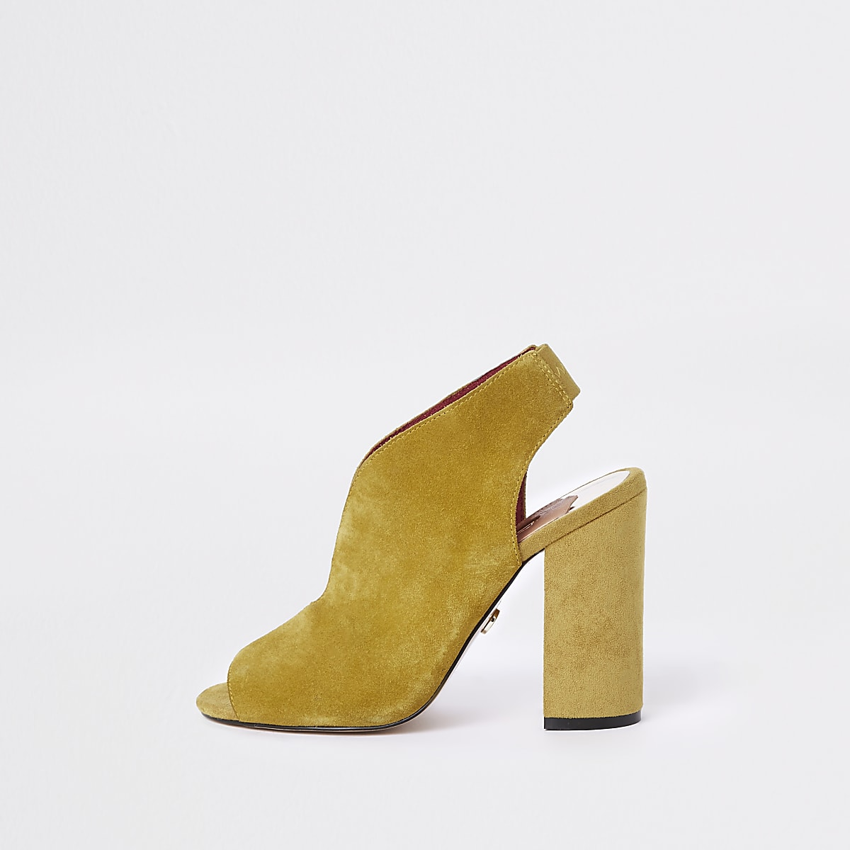 fbd807169e6 Yellow wide fit suede curve vamp shoe boots