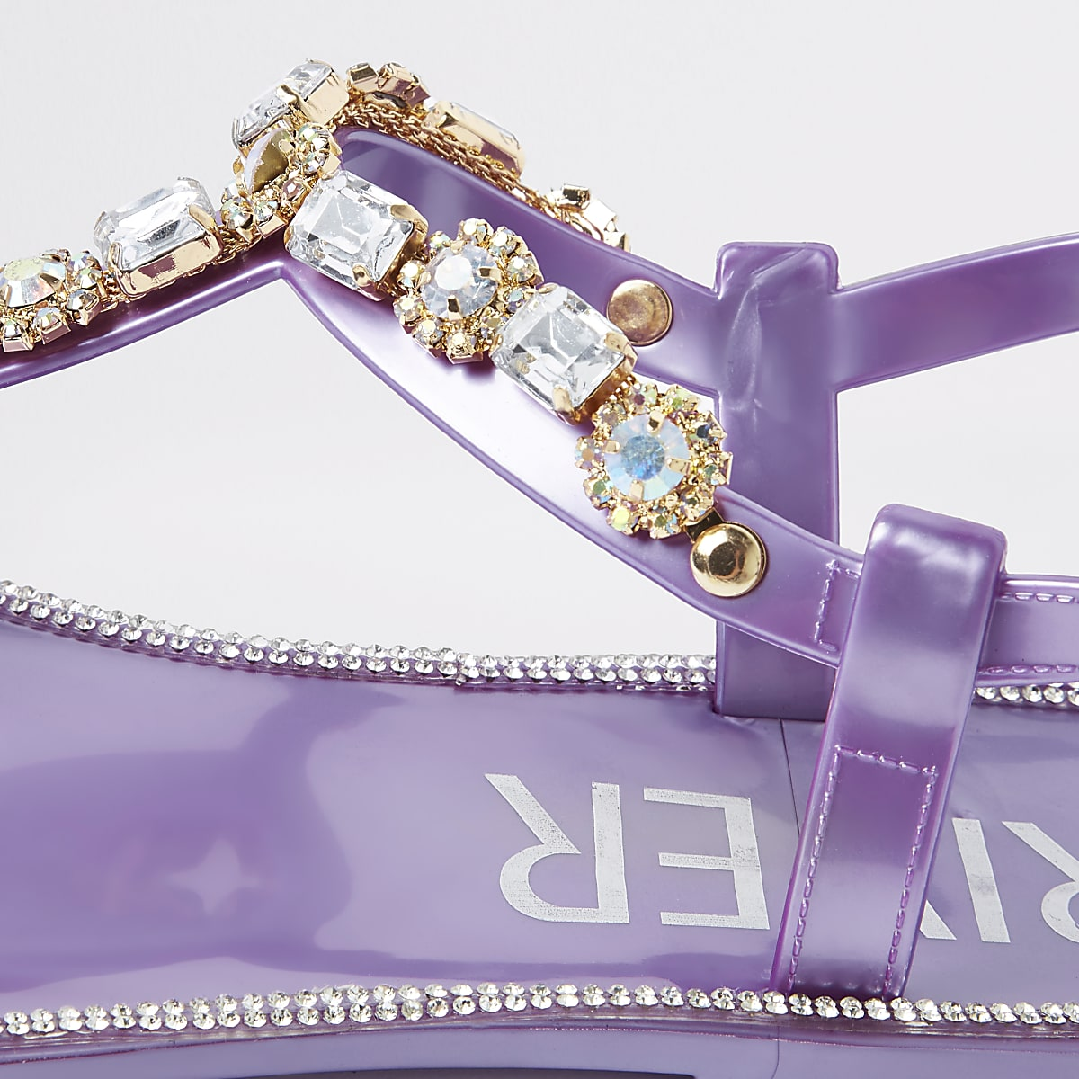 412abe003 Purple gem embellished jelly sandals - Sandals - Shoes   Boots - women