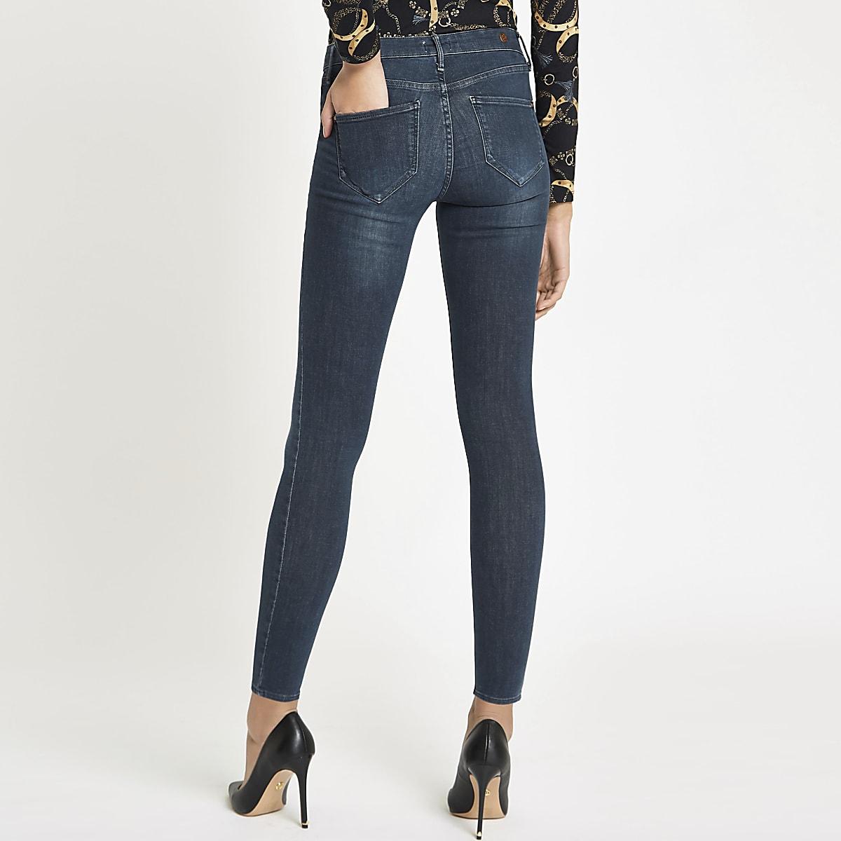 7d43a53b016c6 Dark grey Molly mid rise jeggings - Jeggings - Jeans - women