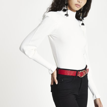 Cream turtle neck long sleeve jumper