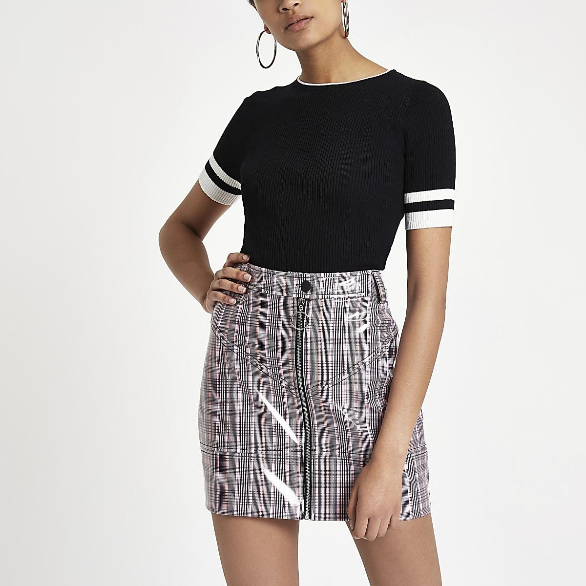 e19026f62 Pink vinyl check mini skirt - Mini Skirts - Skirts - women