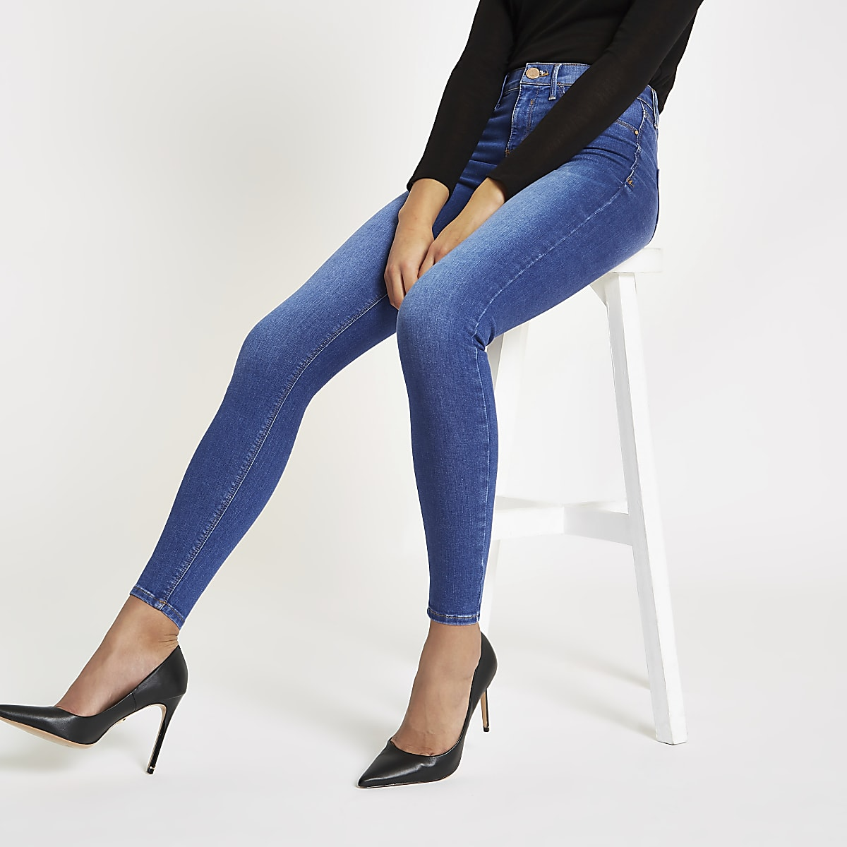 0c68e30bfa8 Blue Molly mid rise denim jeggings - Jeggings - Jeans - women