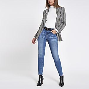 Amelie - Middenblauwe superskinny denim jeans