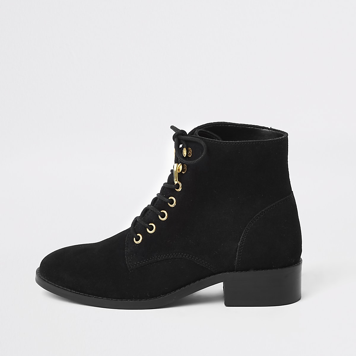 fb3a9e611df5 Black suede lace up ankle boots - Winter Warmers - women