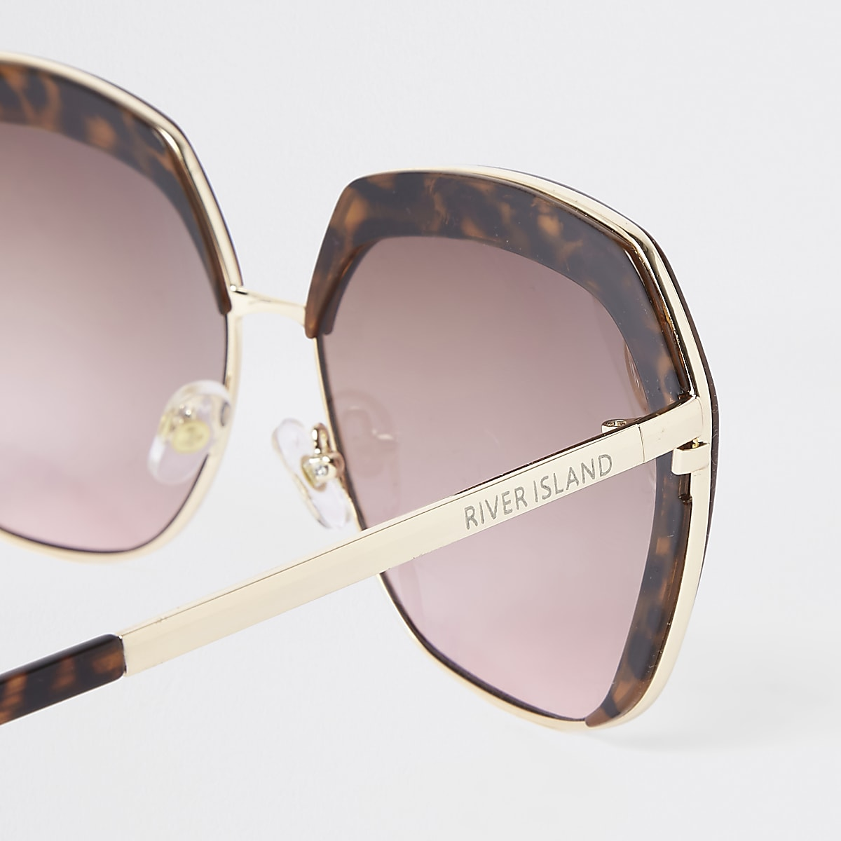 aead1259ce8a Brown tortoiseshell pink lens glam sunglasses - Oversized Sunglasses ...