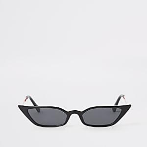 Schwarze Sonnenbrille mit filigranem Gestell