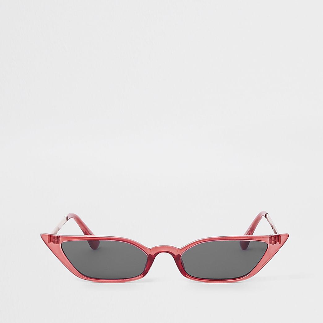 Red slim visor sunglasses