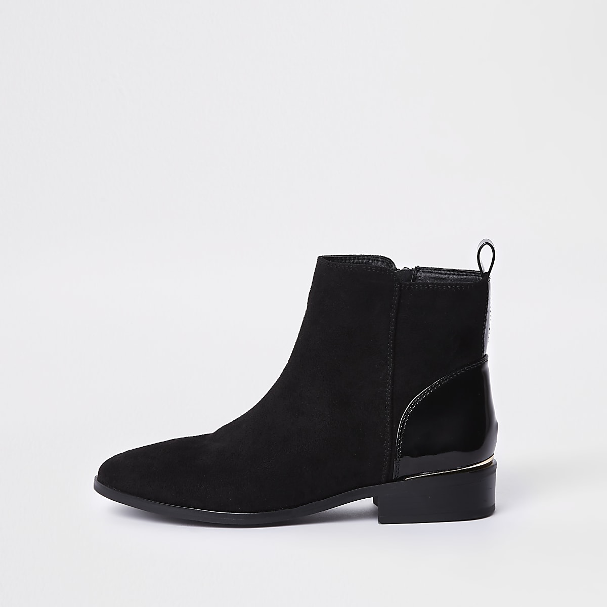 Zwarte lage chelsea boots