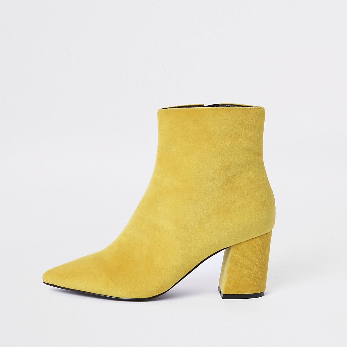6af3ee04b0a Yellow pointed block heel boots - Boots - Shoes   Boots - women