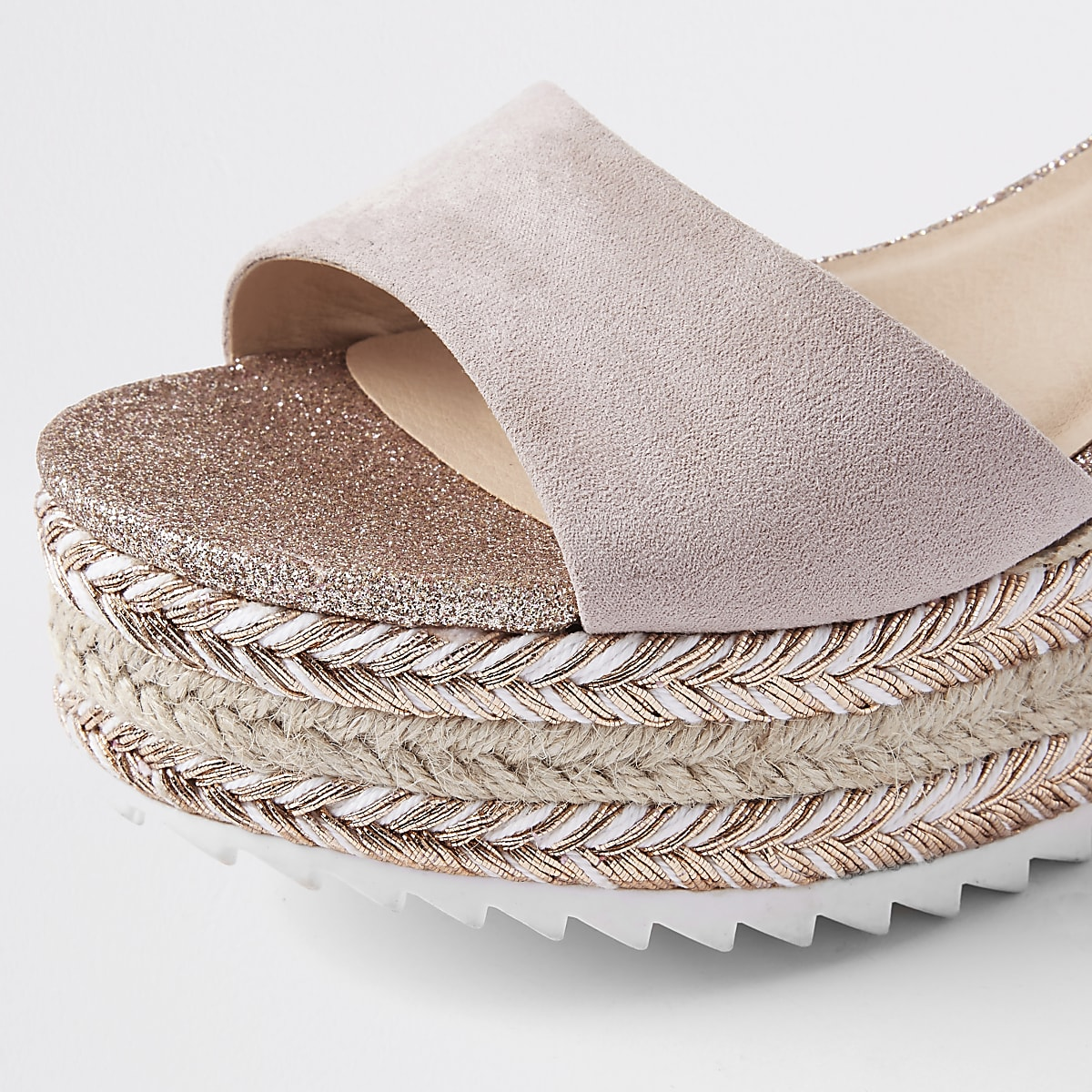 d5a3b733f016 Gold glitter espadrille platform sandals - Sandals - Shoes   Boots ...