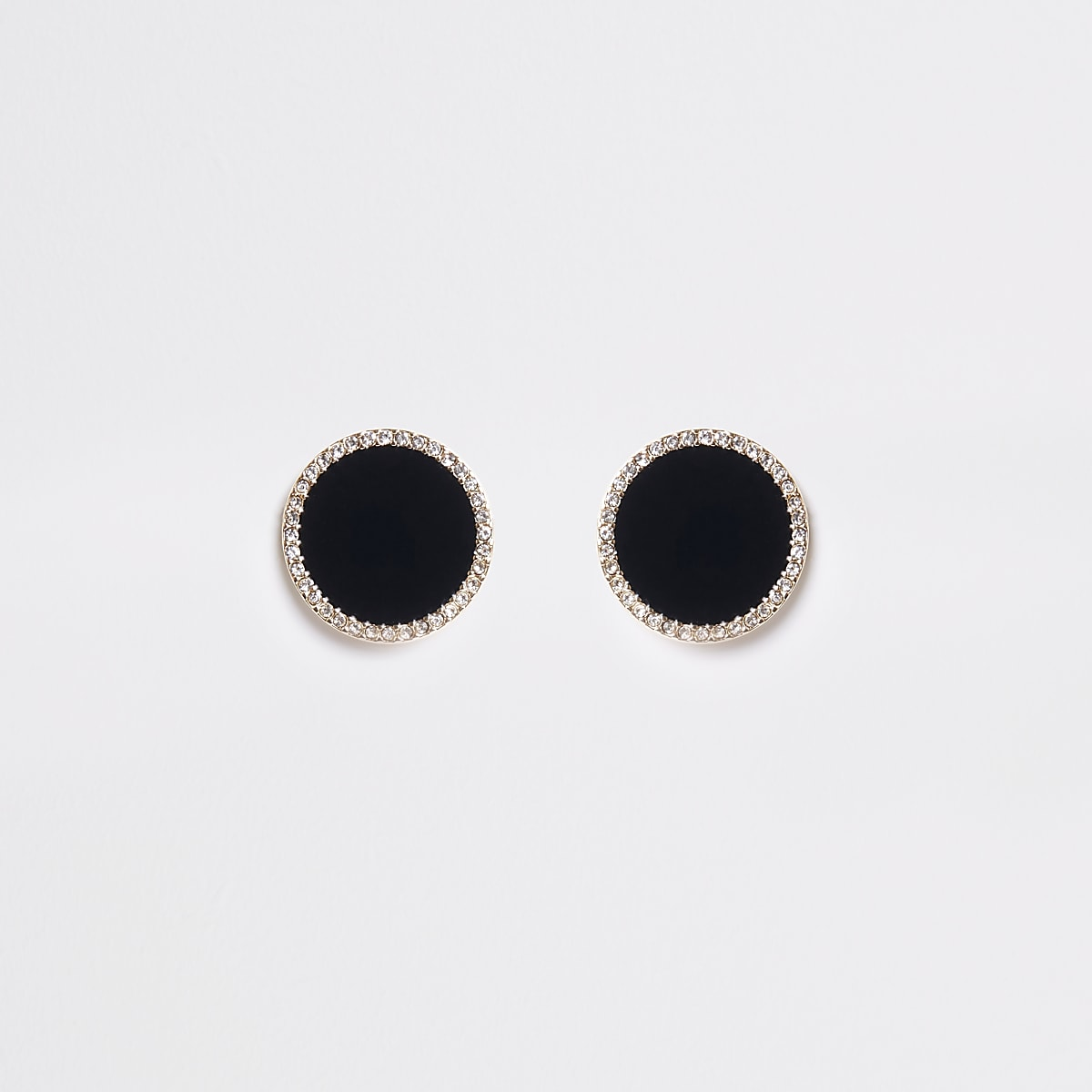 Schwarze, große Ohrringe