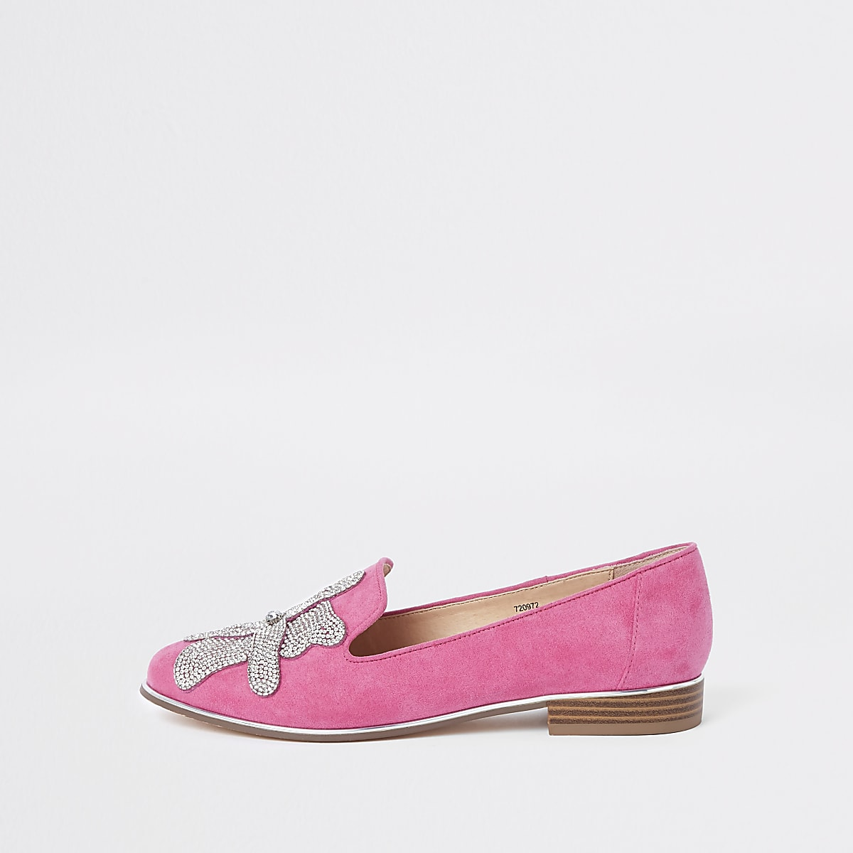 a4da838c92bf Pink floral diamante embellished loafers - Shoes - Shoes & Boots - women