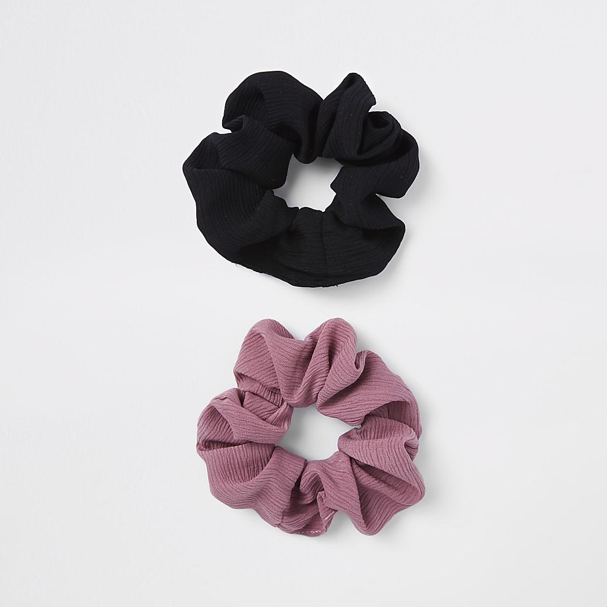 Multipack zwarte haarbandjes