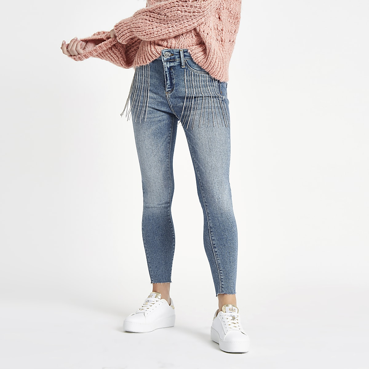 RI Petite - Molly - Versierde jeans