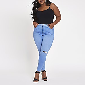 Plus blue Harper high rise super skinny jeans