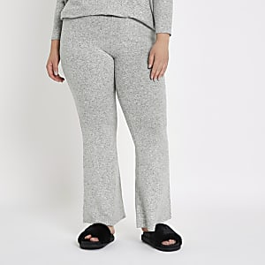 Plus grey flare joggers