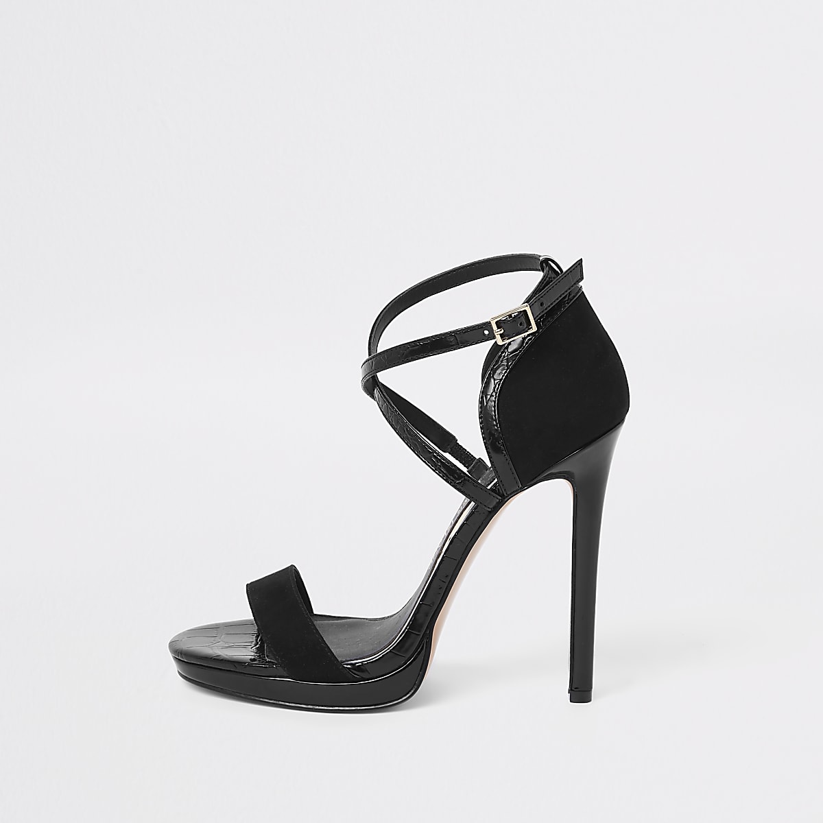 e0a60c93663 Black barely there platform sandals - Sandals - Shoes   Boots - women