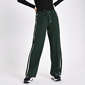 Green stripe side joggers