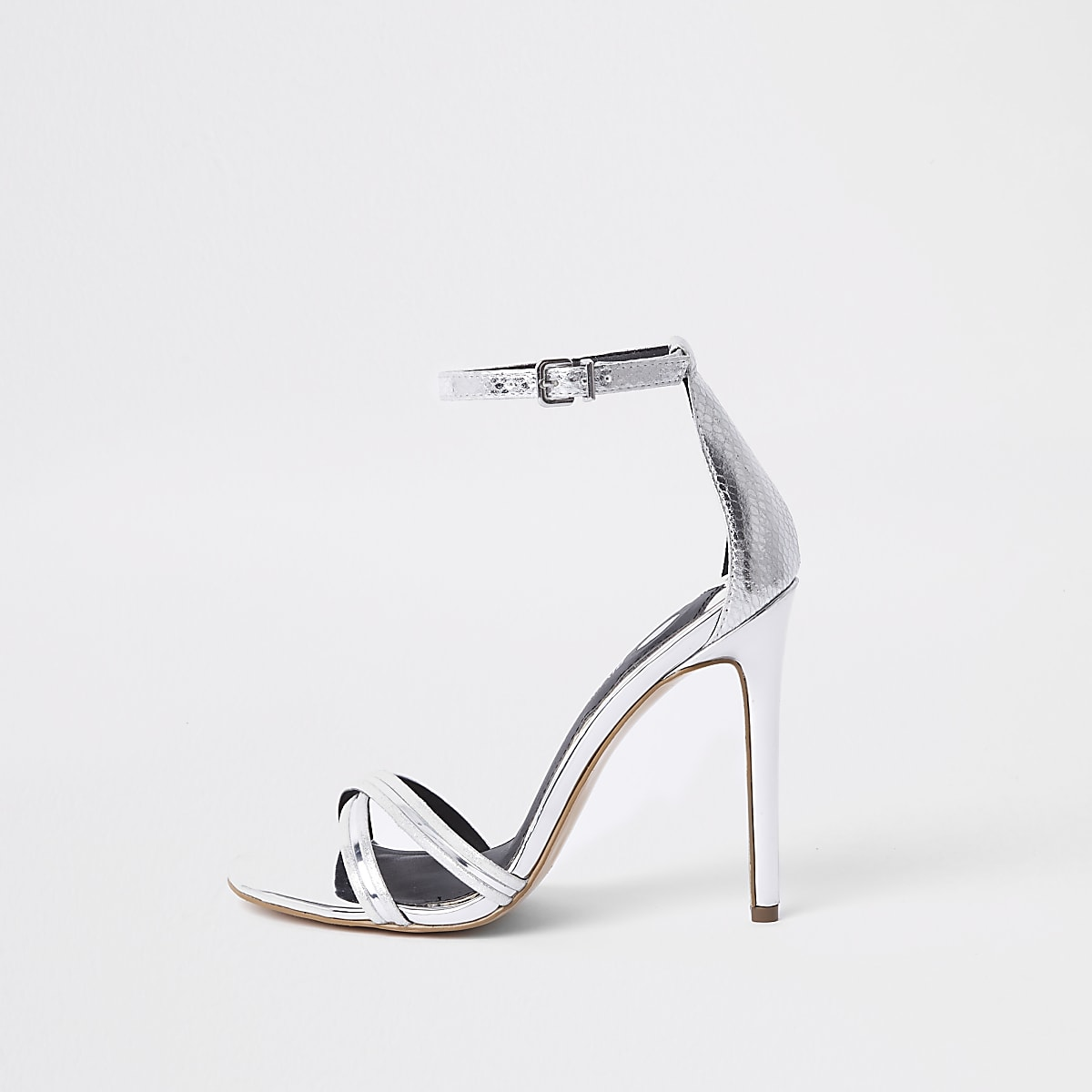 ​Barely There – Sandalen in Silber-Metallic​