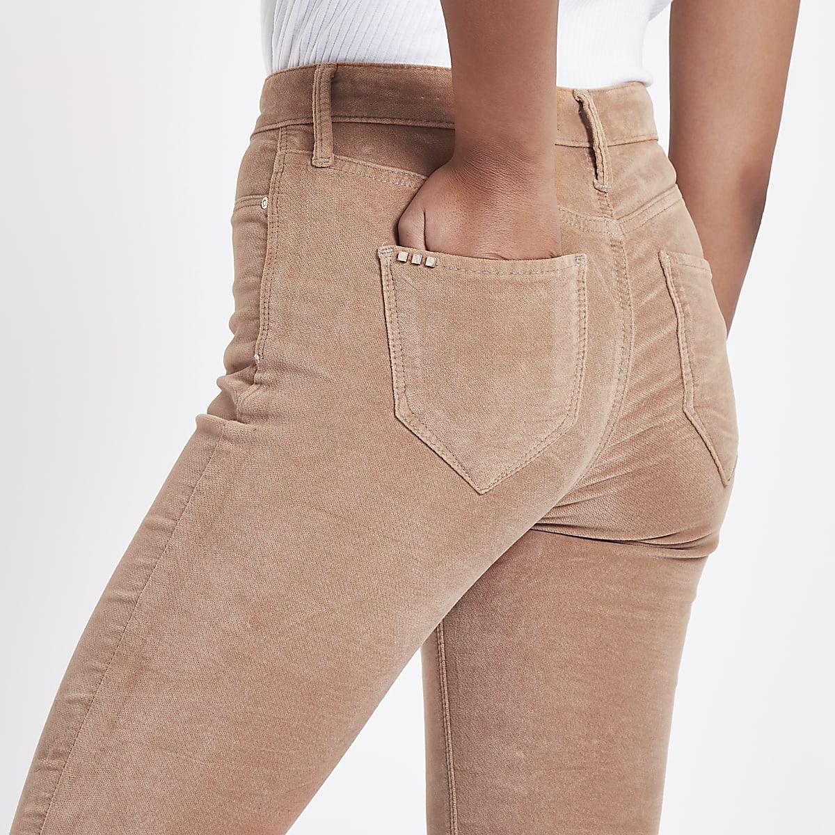 80db8d8a459e9 Pink Rl Molly velvet jeggings - Jeggings - Jeans - women