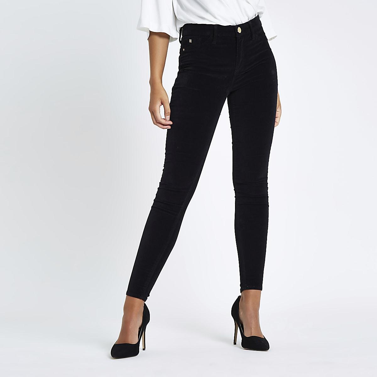 0ae8623dfc31b Black Rl Molly velvet jeggings - Jeggings - Jeans - women