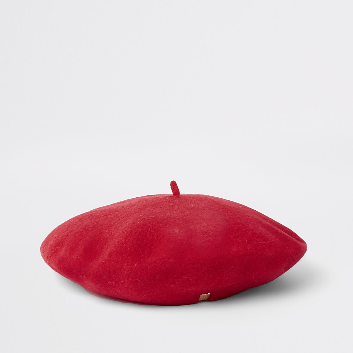 Red felt beret
