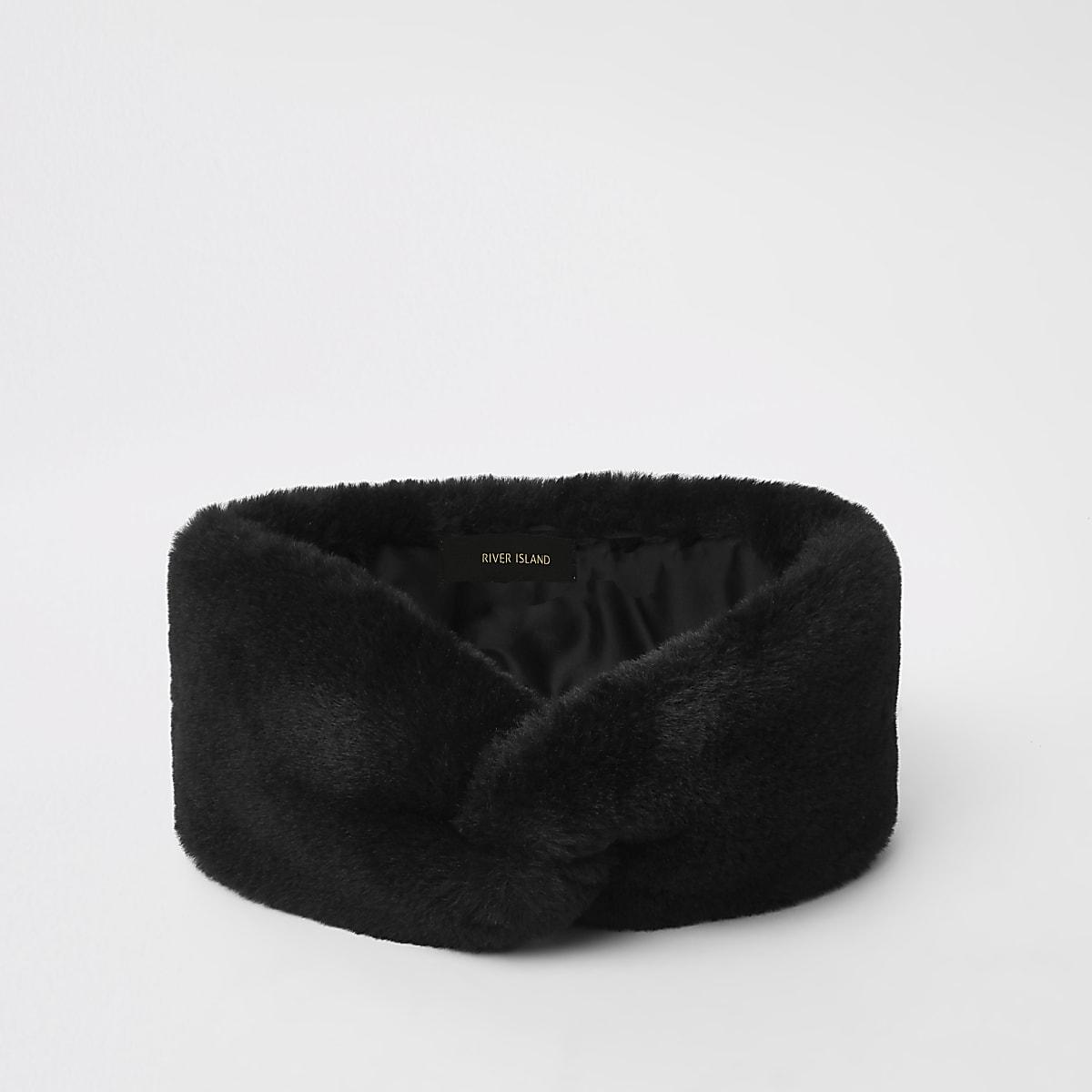 f7a451f0599 Black faux fur headband - Hats - Accessories - women