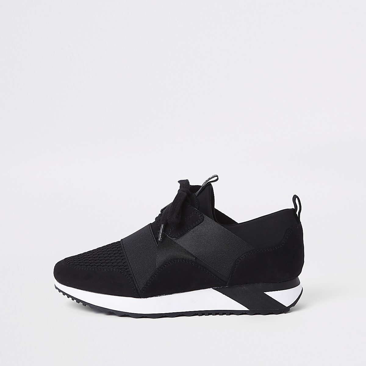 Schwarze, dehnbare Sneaker