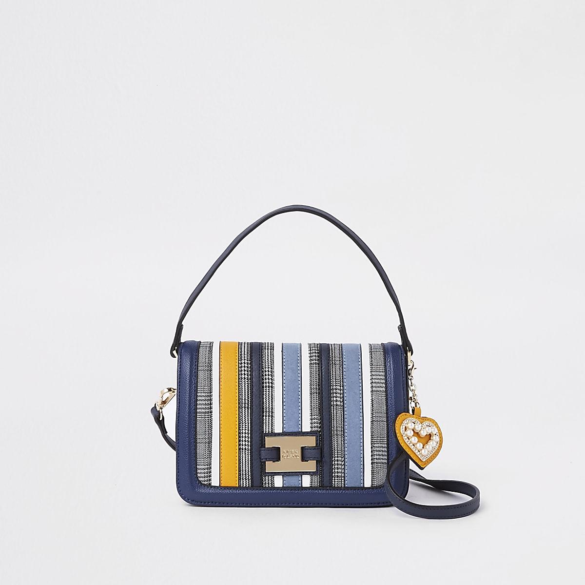 f92e6ecf1d6b3b Blue stripe flap over crossbody bag - Bags   Purses - Coordinates    Matching Sets - women
