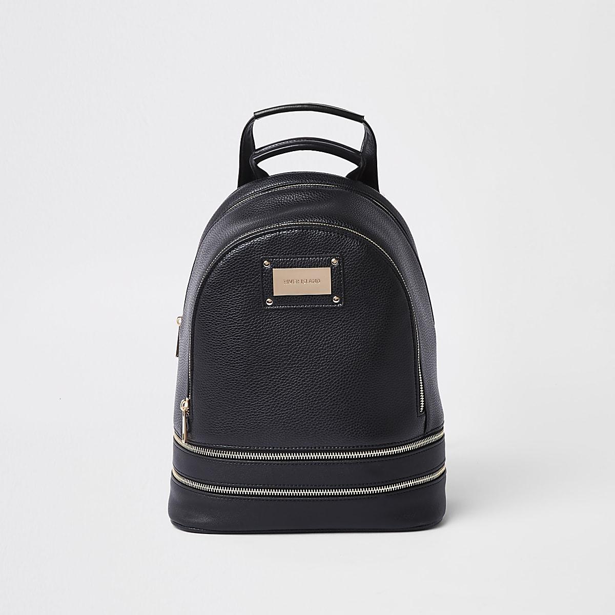 Black zip around backpack