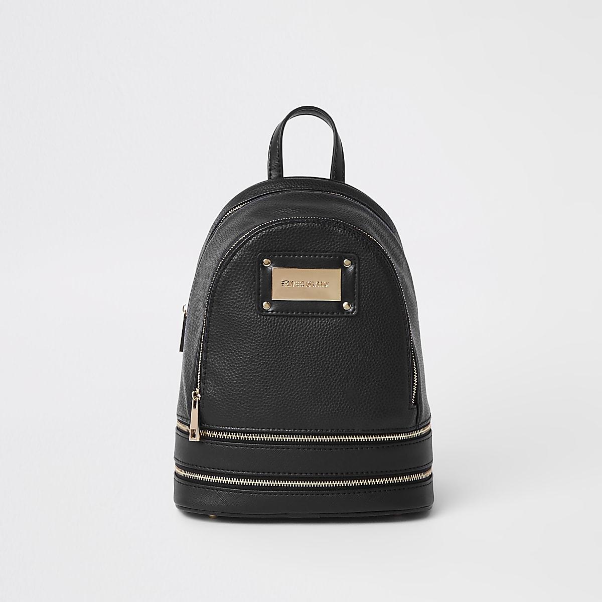 Zwarte mini-rugzak
