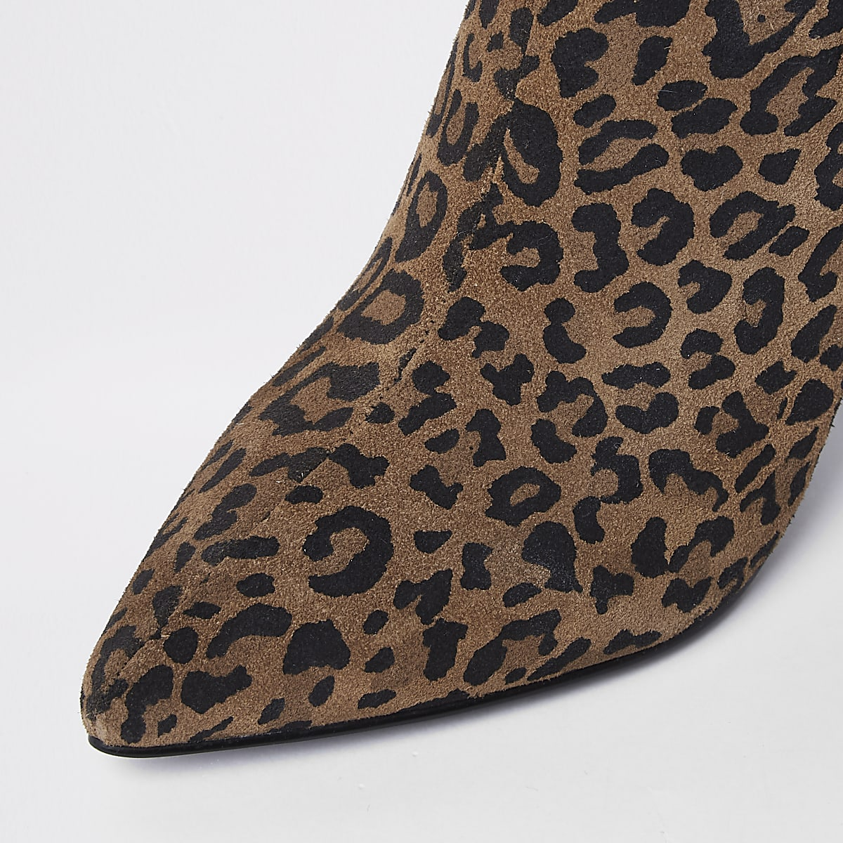 50803b4909c5 Brown wide fit leopard print ankle boots - Boots - Shoes   Boots - women