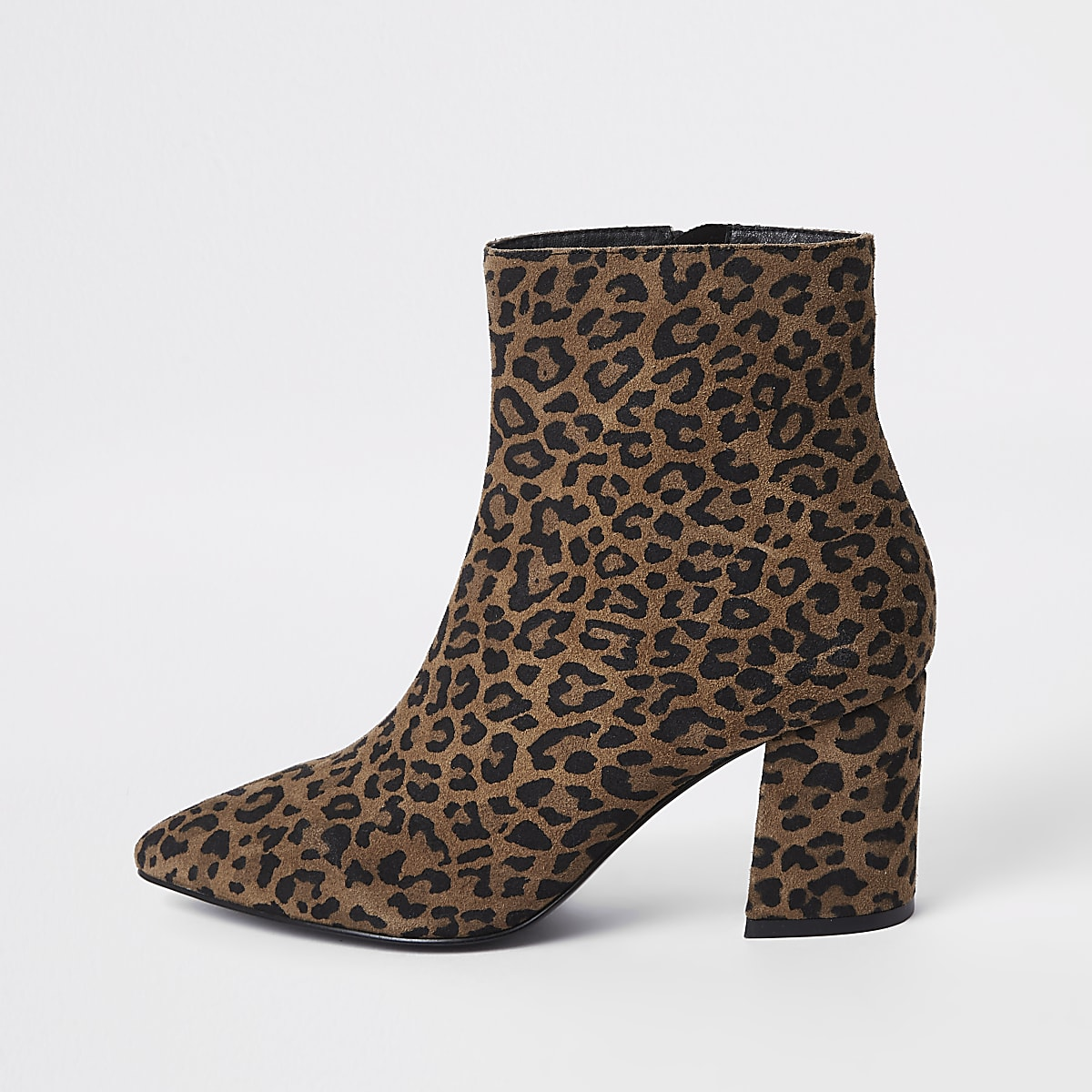 dd4d5c42ad29 Brown wide fit leopard print ankle boots - Boots - Shoes   Boots - women