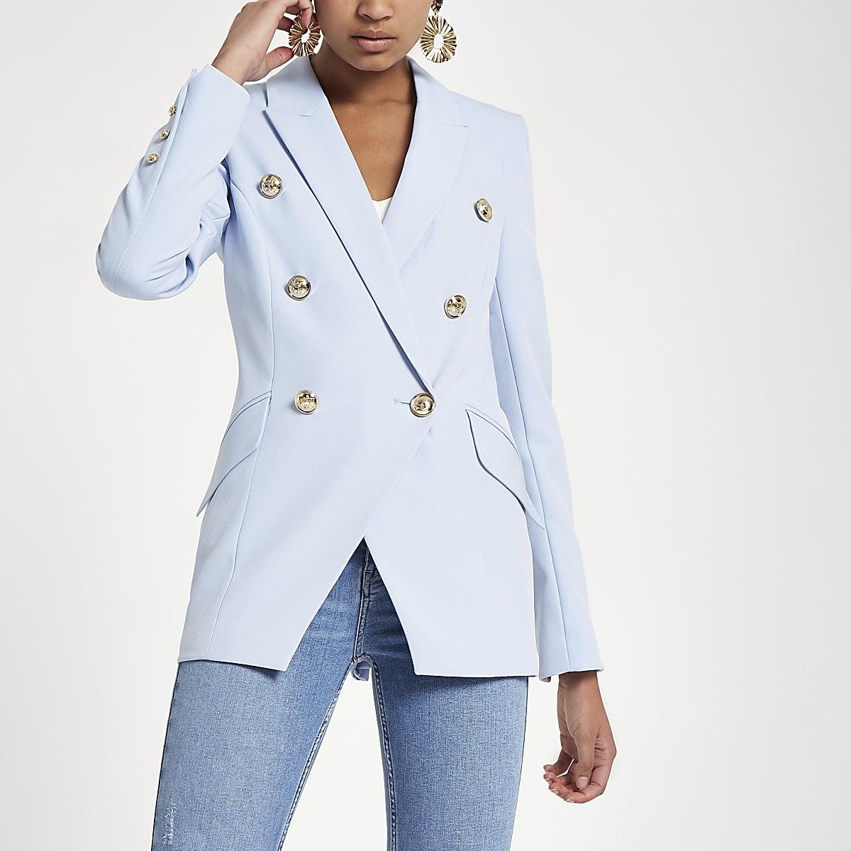fa423821572c Light blue double breasted tux jacket - Jackets - Coats   Jackets - women