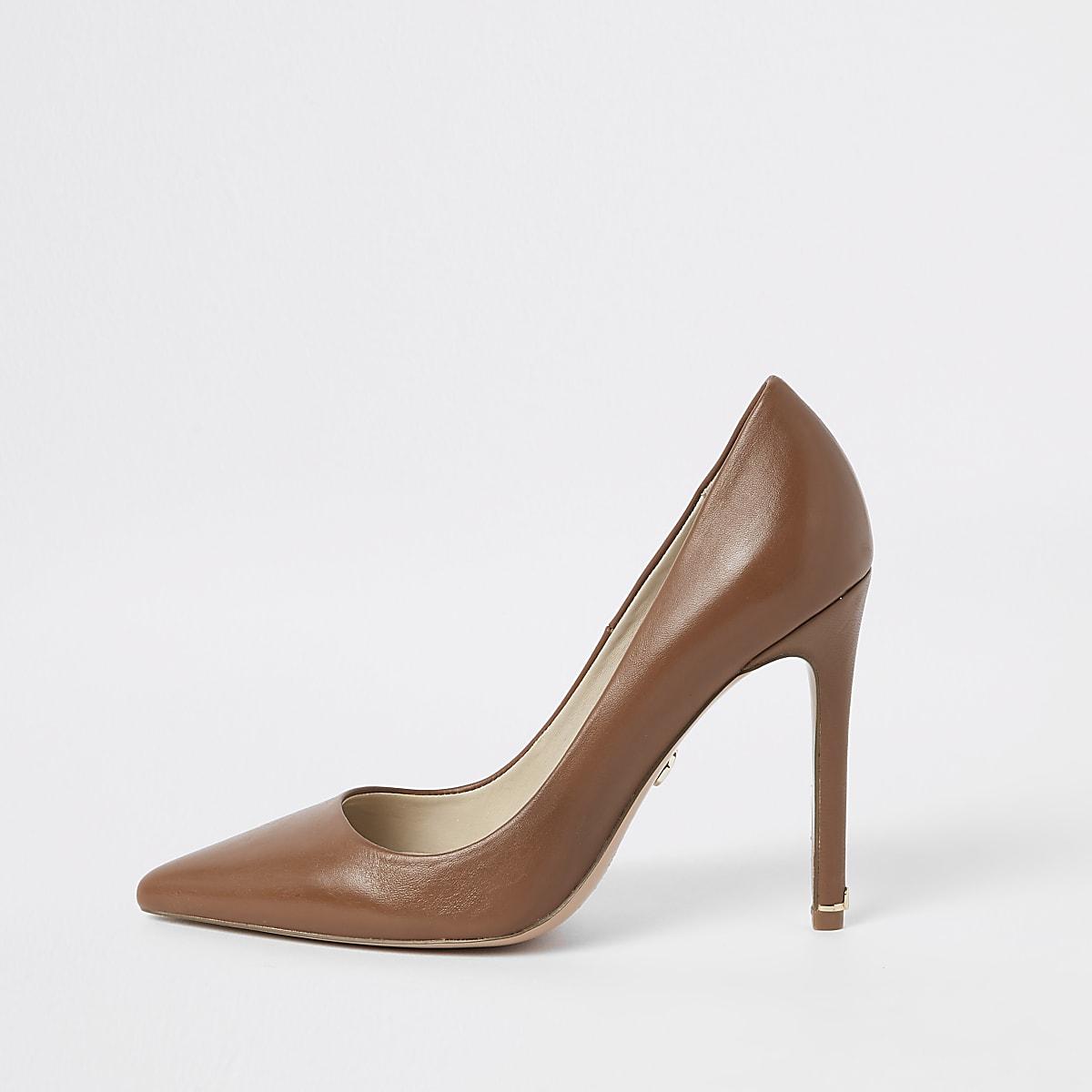 e7558039503 Brown plush leather court shoes - Shoes - Shoes   Boots - women