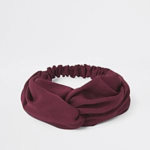 Rode gedraaide hoofdband