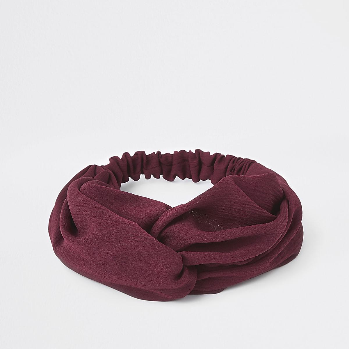 Red twist headband