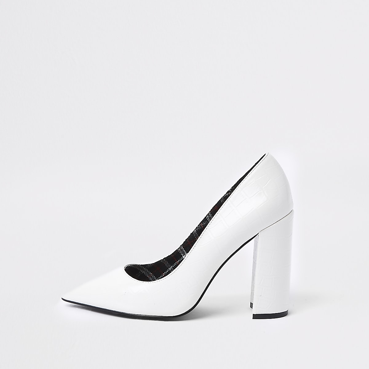 f8f850e444 Weiße Pumps mit Blockabsatz - Schuhe - Schuhe & Stiefel - Damen