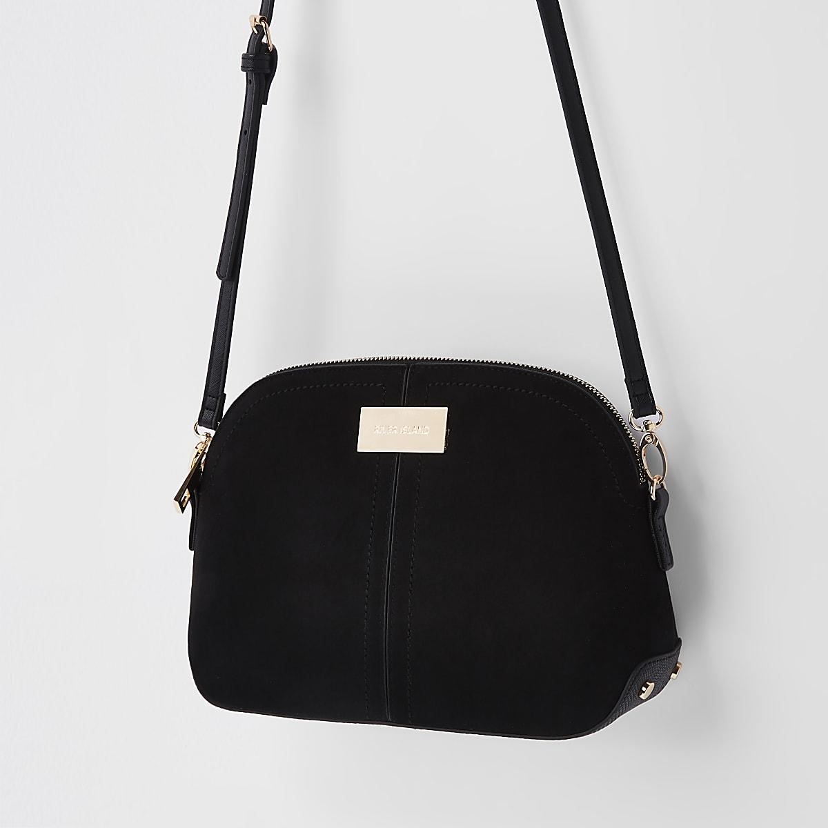 Black kettle zip cross body bag - Cross Body Bags - Bags   Purses - women