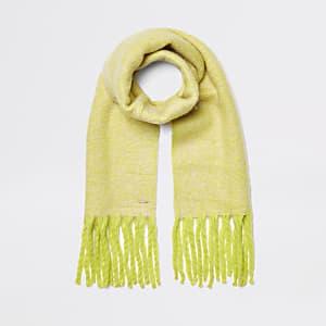 Neongelber, melierter Schal