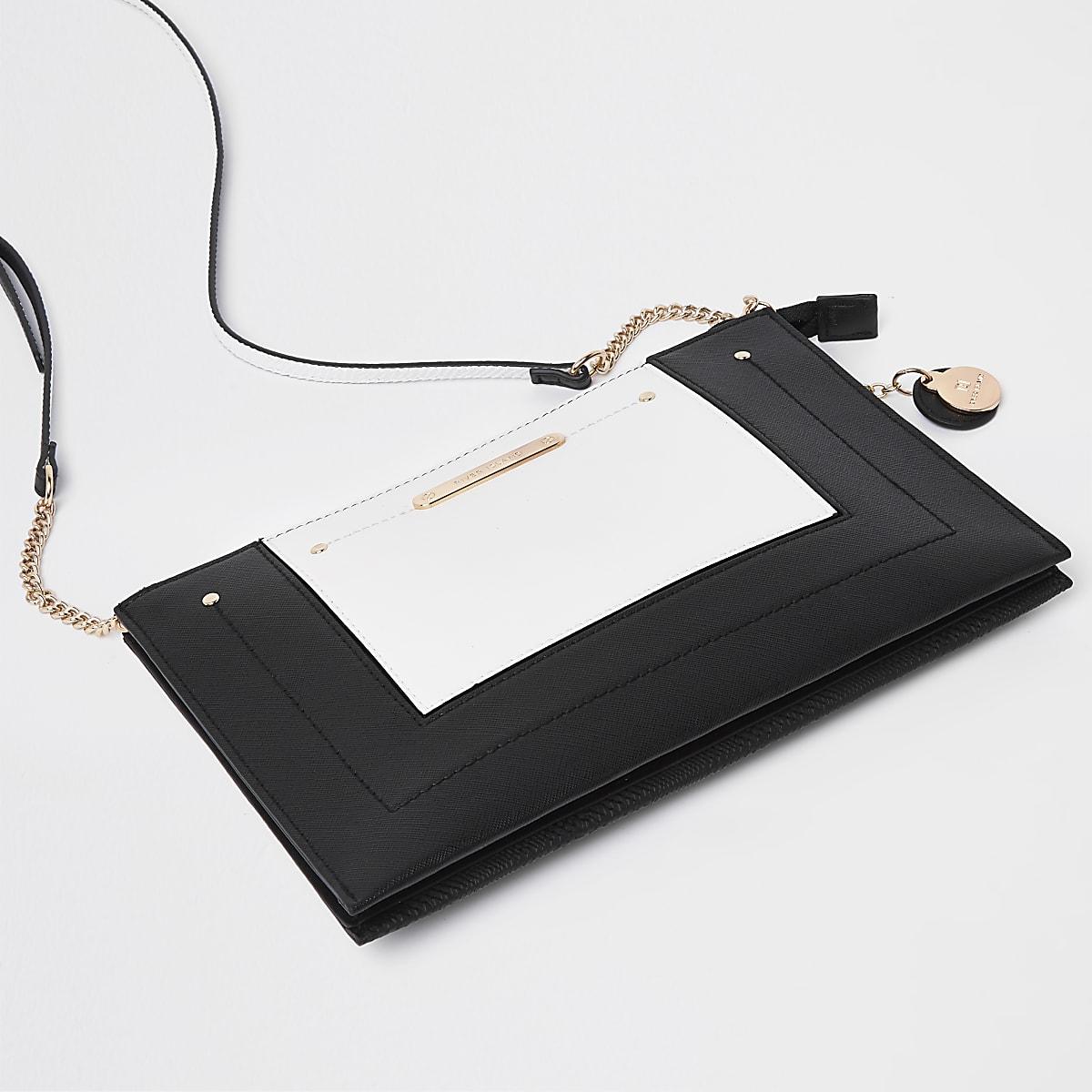 Zwart-witte crossbodytas