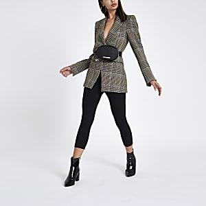 Zwarte capri legging met hoge taille