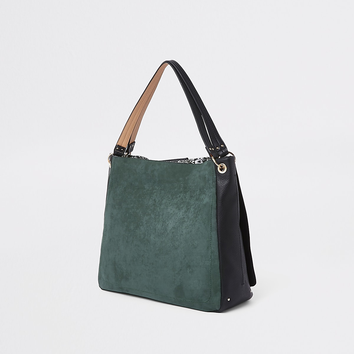 ae21618b3 Dark green oversized metal ring slouch bag - Shoulder Bags - Bags ...