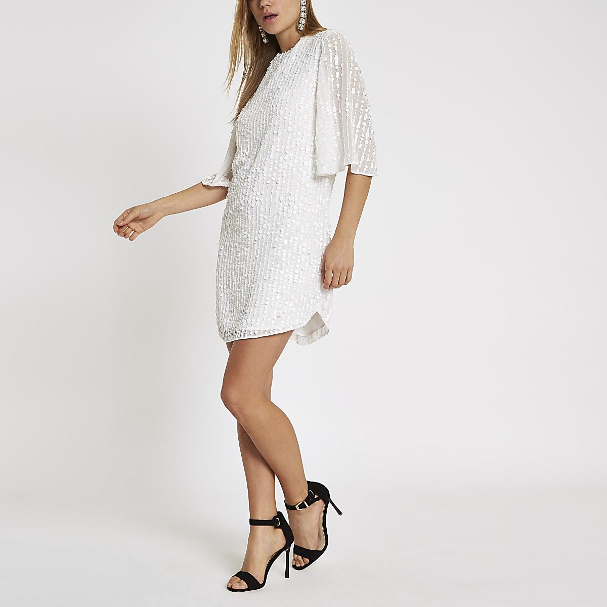 921ea09825ad White sequin swing dress - Swing Dresses - Dresses - women