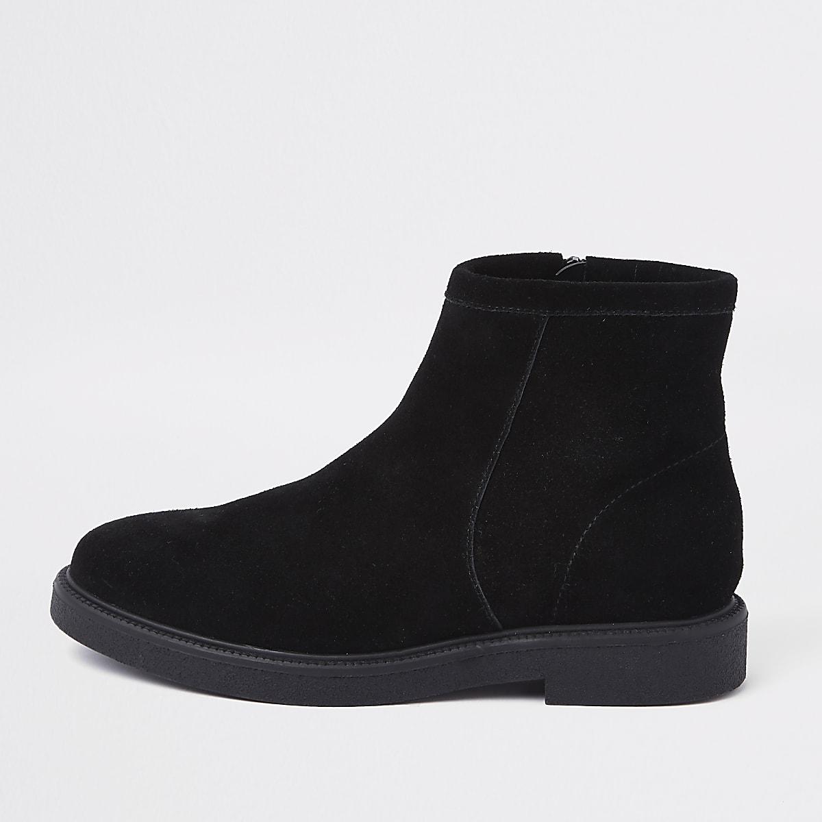 4286c9b7531 Black low heel ankle boots