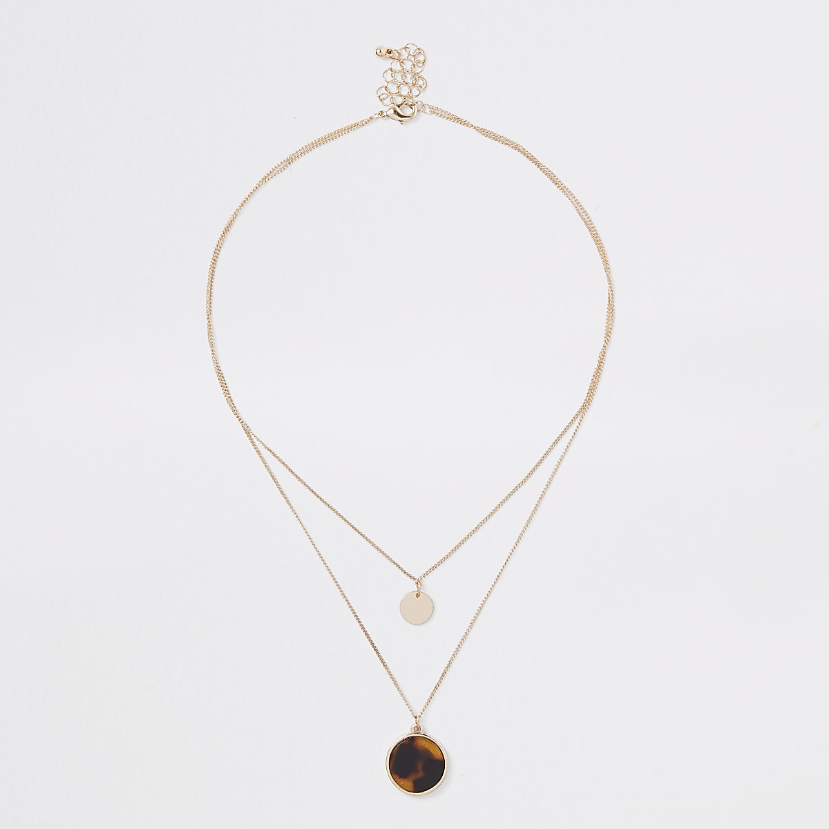 Gold colour black and yellow circle necklace