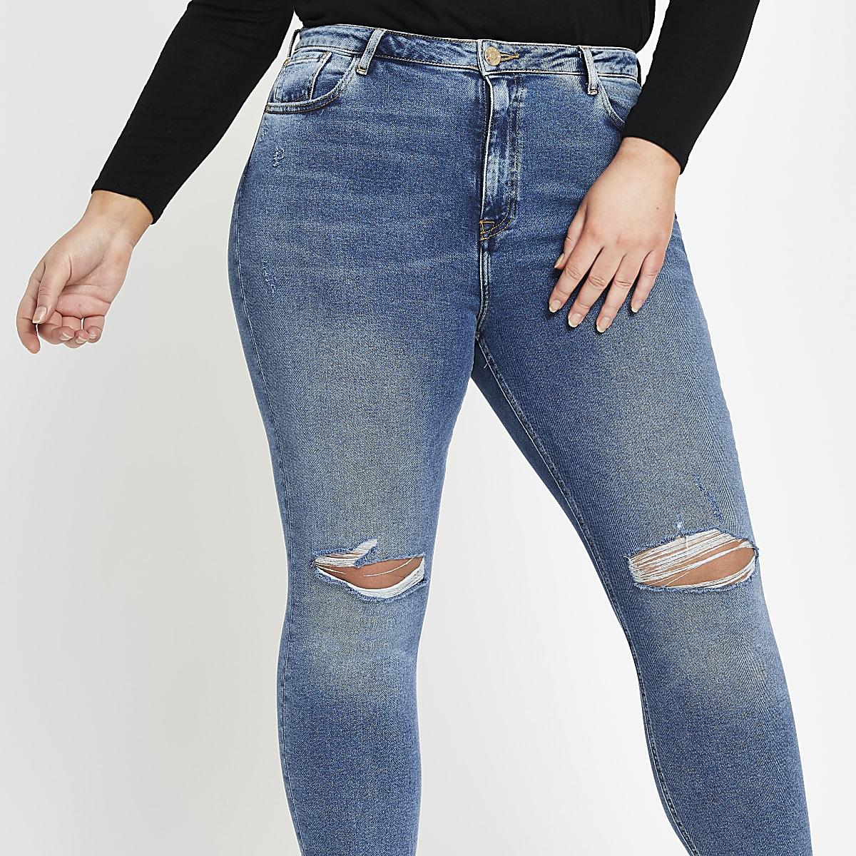 Plus blue Original mid rise skinny jeans