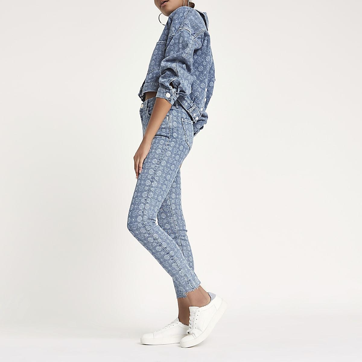 Amelie – Jean super skinny avec logo RI