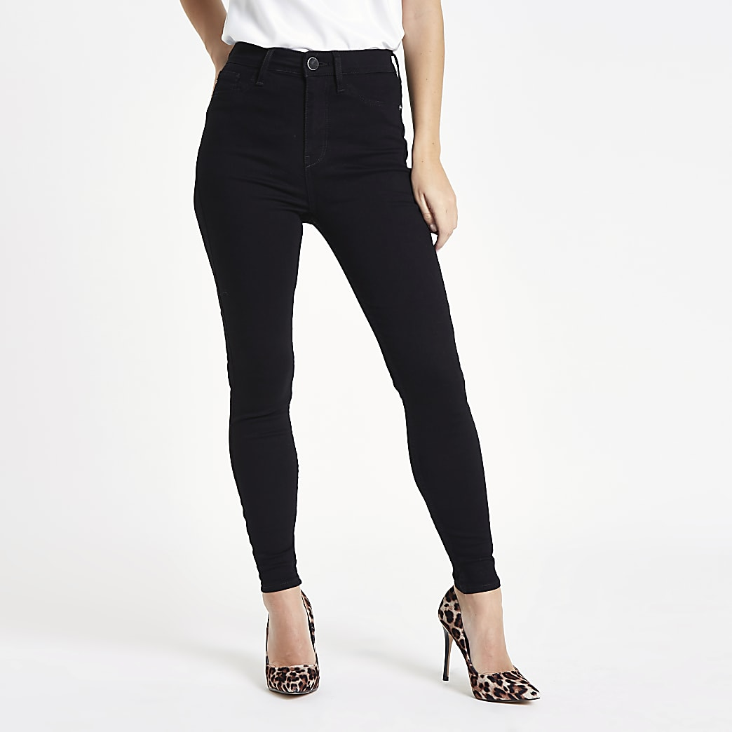 good classic undefeated x Petite black Harper high rise skinny jeans
