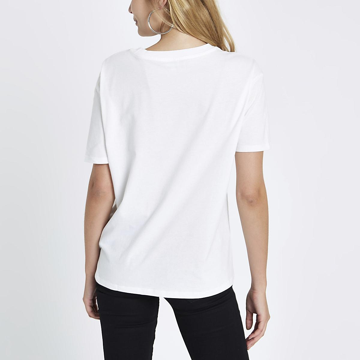 Weißes T Shirt Simplicite T Shirts Oberteile Damen